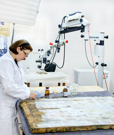 Laborator restaurare pictura tempera