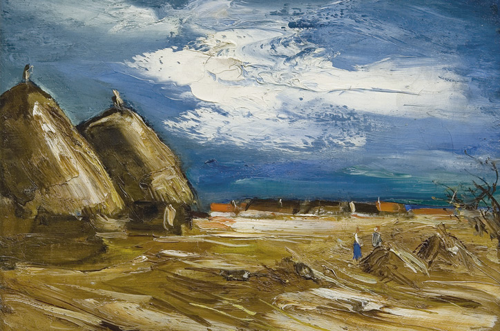 Vlaminck - Landscape with Haystacks